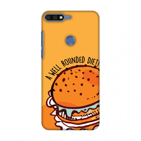 Soul Foods: Burger Slim Hard Shell Case For Huawei Honor 7C