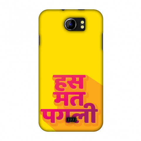 Has Mat Pagli Slim Hard Shell Case For Micromax Canvas 2 A110