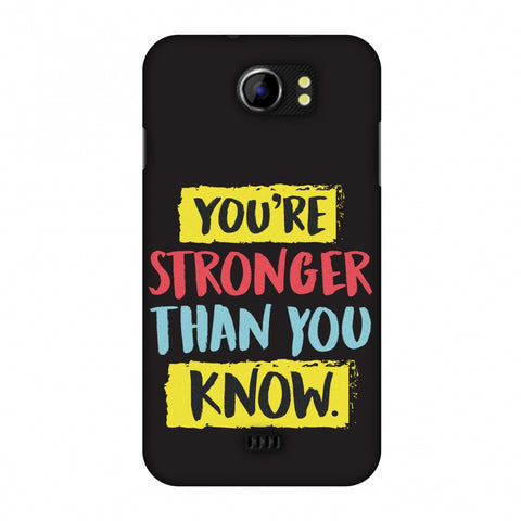 You Are Stronger Than.. Slim Hard Shell Case For Micromax Canvas 2 A110
