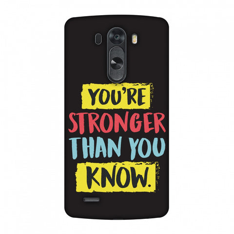You Are Stronger Than.. Slim Hard Shell Case For LG G4