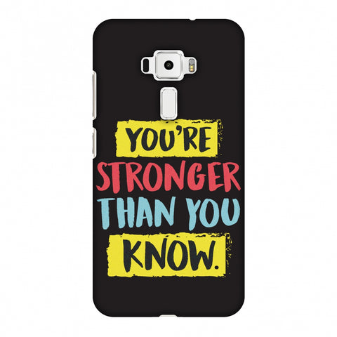 You Are Stronger Than.. Slim Hard Shell Case For Asus Zenfone 3 ZE520KL