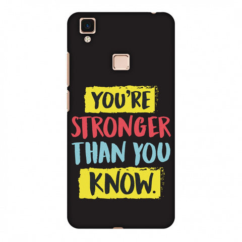 You Are Stronger Than.. Slim Hard Shell Case For Vivo V3 Max