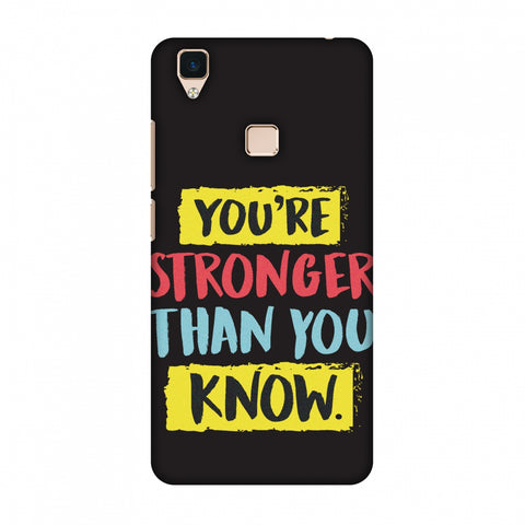 You Are Stronger Than.. Slim Hard Shell Case For Vivo V3