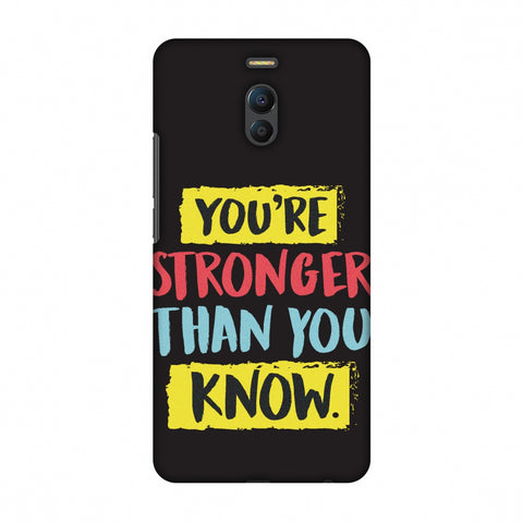 You Are Stronger Than.. Slim Hard Shell Case For Meizu Note 6