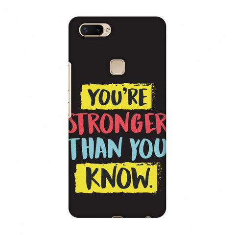 You Are Stronger Than.. Slim Hard Shell Case For Vivo X20 Plus