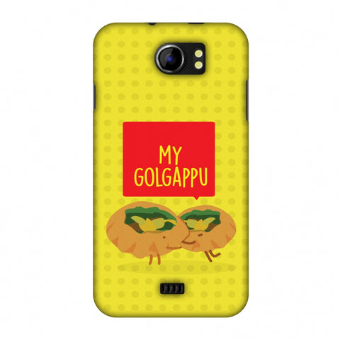 My Golgappu Slim Hard Shell Case For Micromax Canvas 2 A110