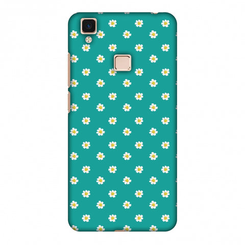 Pretty Patterns: Daisies Slim Hard Shell Case For Vivo V3 Max