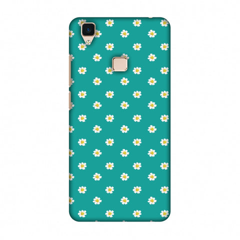 Pretty Patterns: Daisies Slim Hard Shell Case For Vivo V3
