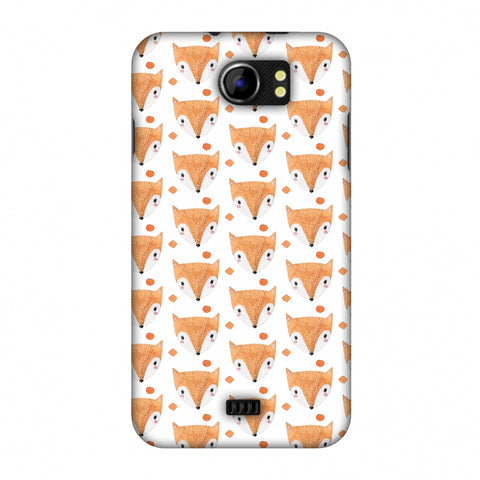 Pretty Patterns: Foxes Slim Hard Shell Case For Micromax Canvas 2 A110