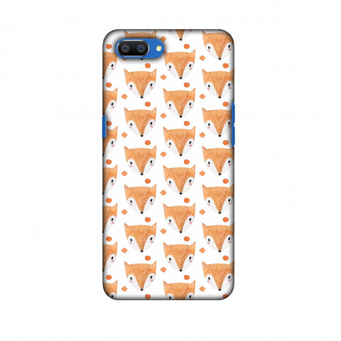 Pretty Patterns: Foxes Slim Hard Shell Case For Oppo Realme C1