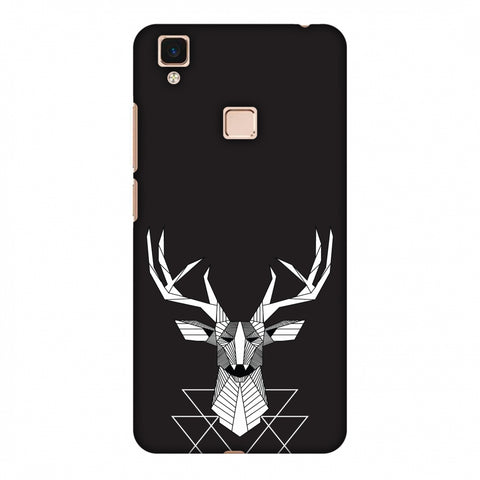 Geometric Deer Slim Hard Shell Case For Vivo V3 Max