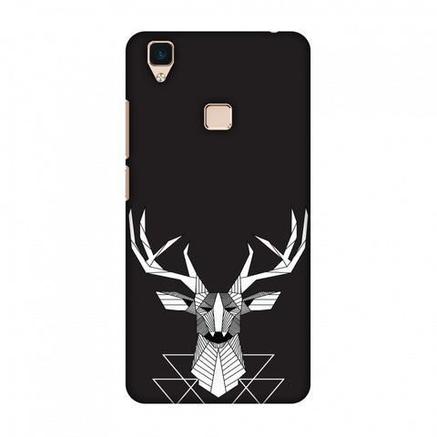 Geometric Deer Slim Hard Shell Case For Vivo V3