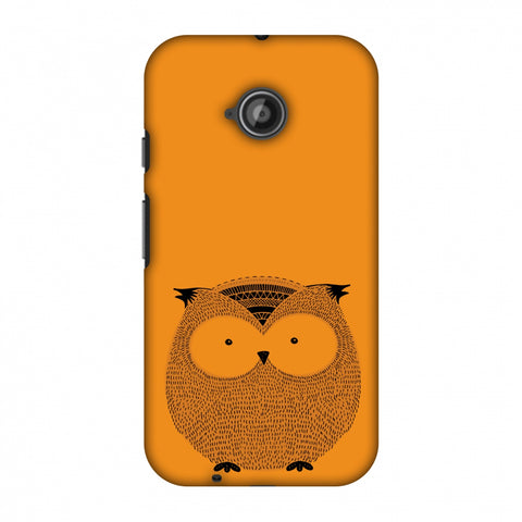 Sketches: Owl Slim Hard Shell Case For Motorola Moto E 2nd Gen