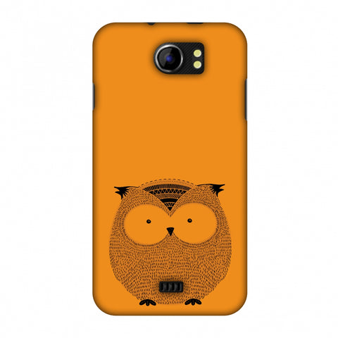 Sketches: Owl Slim Hard Shell Case For Micromax Canvas 2 A110