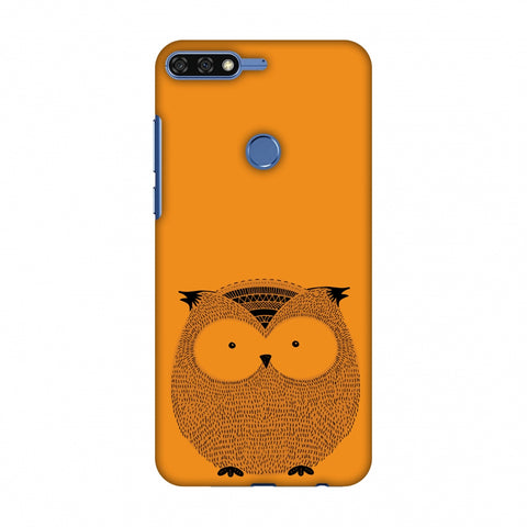 Sketches: Owl Slim Hard Shell Case For Huawei Honor 7C