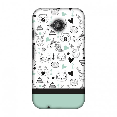 Pretty Patterns: Unicorns Slim Hard Shell Case For Motorola Moto E 2nd Gen