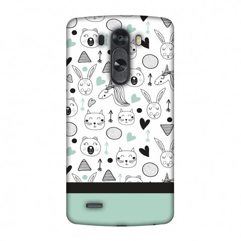 Pretty Patterns: Unicorns Slim Hard Shell Case For LG G4