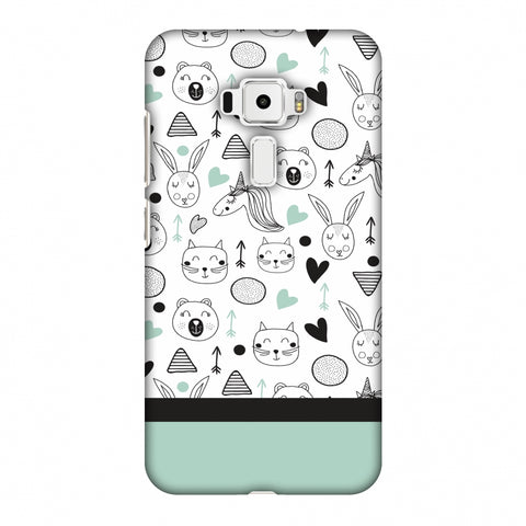Pretty Patterns: Unicorns Slim Hard Shell Case For Asus Zenfone 3 ZE520KL