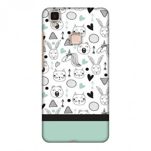 Pretty Patterns: Unicorns Slim Hard Shell Case For Vivo V3 Max