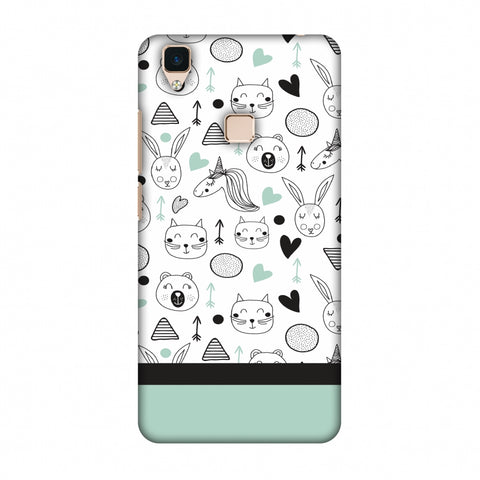 Pretty Patterns: Unicorns Slim Hard Shell Case For Vivo V3