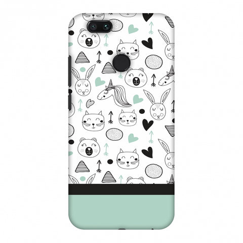 Pretty Patterns: Unicorns Slim Hard Shell Case For Xiaomi MI A1-5X