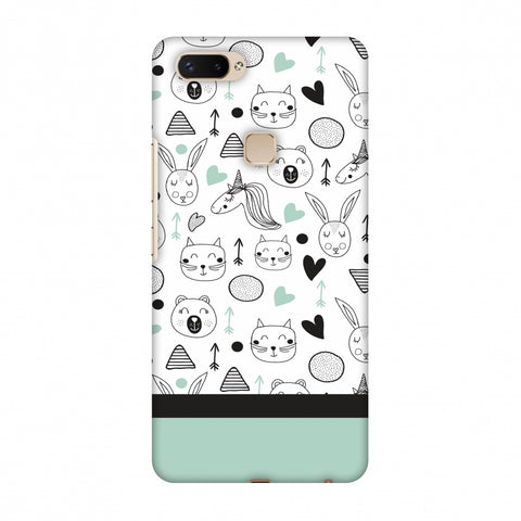 Pretty Patterns: Unicorns Slim Hard Shell Case For Vivo X20 Plus