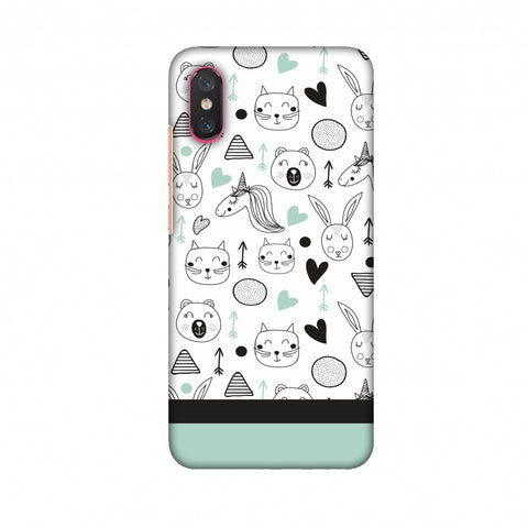 Pretty Patterns: Unicorns Slim Hard Shell Case For Xiaomi Mi 8 Pro