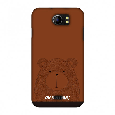 Sketches: Bear Slim Hard Shell Case For Micromax Canvas 2 A110