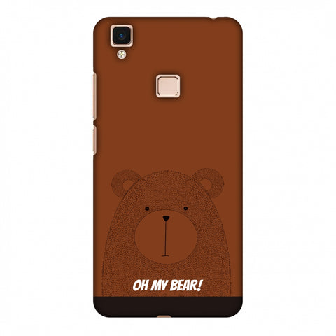 Sketches: Bear Slim Hard Shell Case For Vivo V3 Max