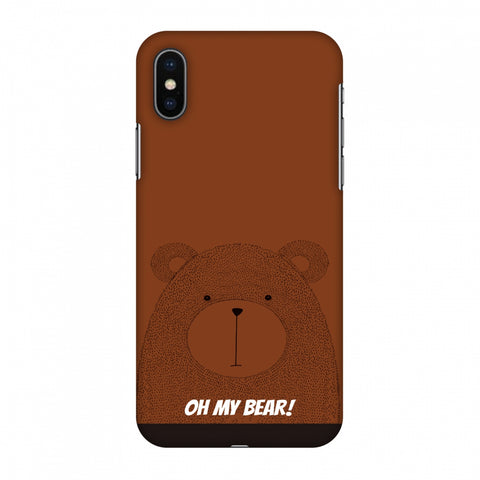 Sketches: Bear Slim Hard Shell Case For Apple iPhone X