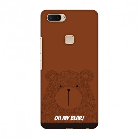 Sketches: Bear Slim Hard Shell Case For Vivo X20 Plus