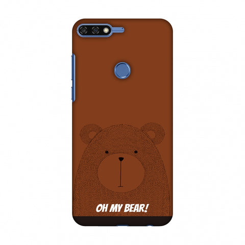 Sketches: Bear Slim Hard Shell Case For Huawei Honor 7C