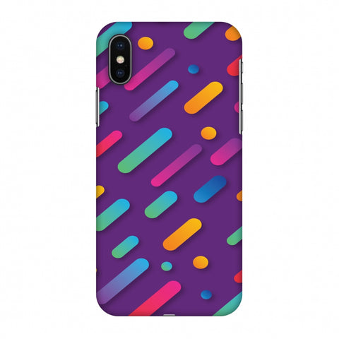It's Raining Gradients! Slim Hard Shell Case For Apple iPhone X