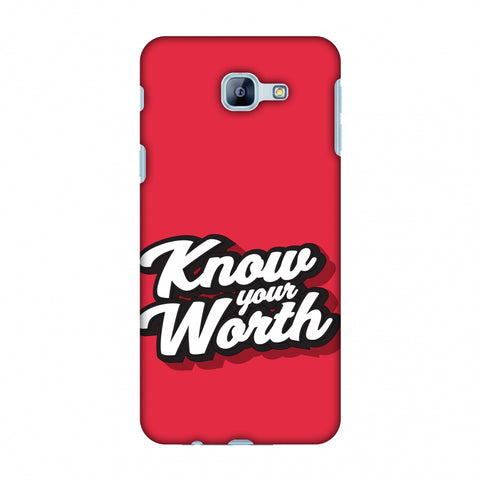 Know Your Worth Slim Hard Shell Case For Samsung Galaxy A8 2016