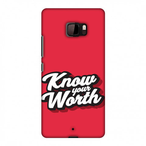 Know Your Worth Slim Hard Shell Case For HTC U Ultra