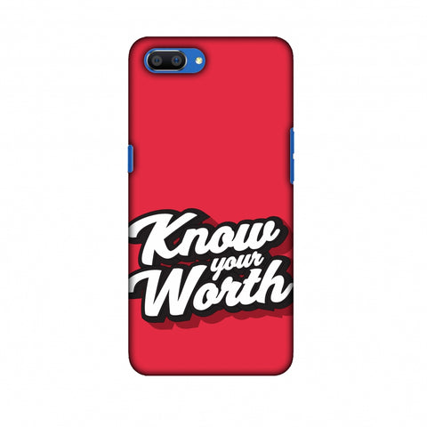 Know Your Worth Slim Hard Shell Case For Oppo Realme C1