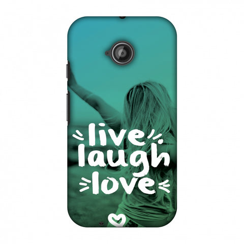 Live Laugh Love Slim Hard Shell Case For Motorola Moto E 2nd Gen
