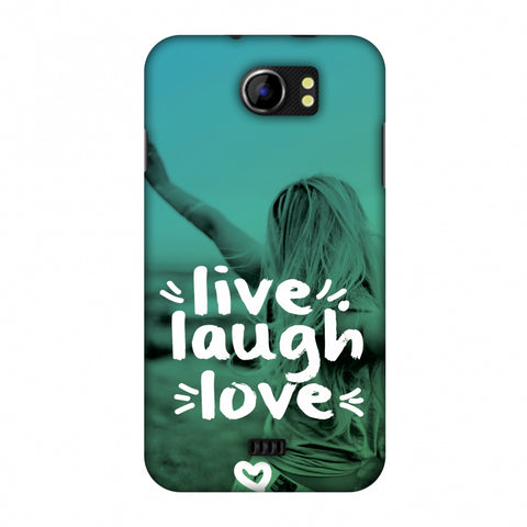 Live Laugh Love Slim Hard Shell Case For Micromax Canvas 2 A110