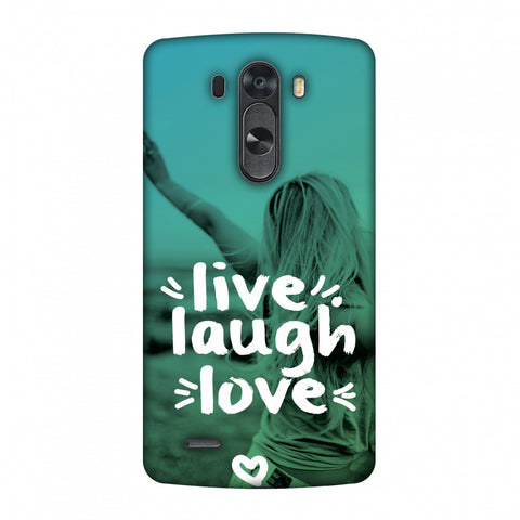 Live Laugh Love Slim Hard Shell Case For LG G4