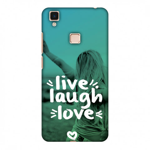 Live Laugh Love Slim Hard Shell Case For Vivo V3 Max