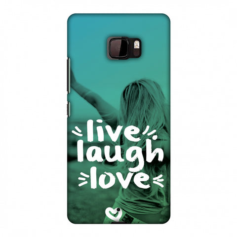 Live Laugh Love Slim Hard Shell Case For HTC U Ultra