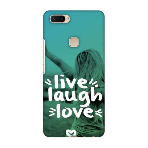 Live Laugh Love Slim Hard Shell Case For Vivo X20 Plus