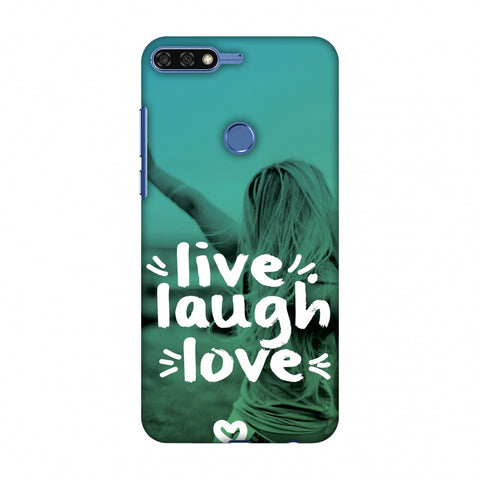 Live Laugh Love Slim Hard Shell Case For Huawei Honor 7C