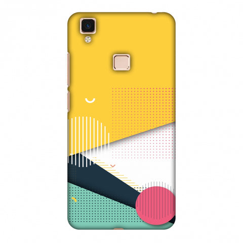 Dots And Stripes Slim Hard Shell Case For Vivo V3 Max