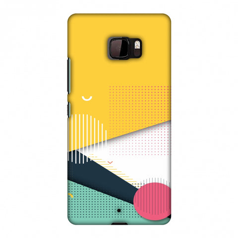 Dots And Stripes Slim Hard Shell Case For HTC U Ultra