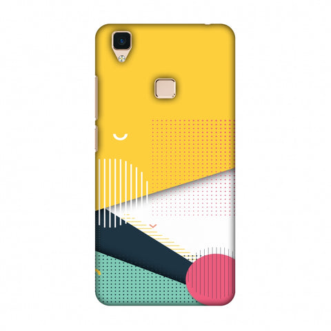 Dots And Stripes Slim Hard Shell Case For Vivo V3
