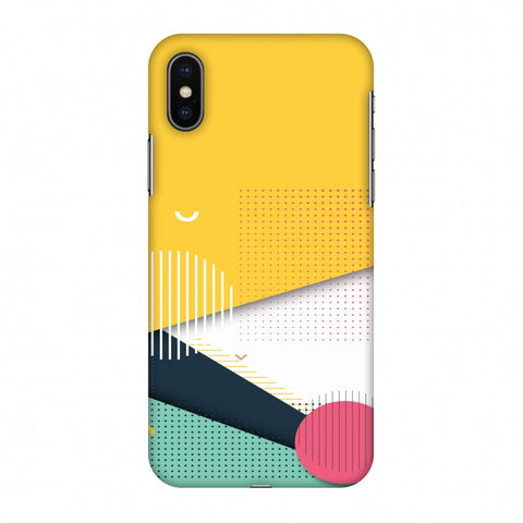 Dots And Stripes Slim Hard Shell Case For Apple iPhone X