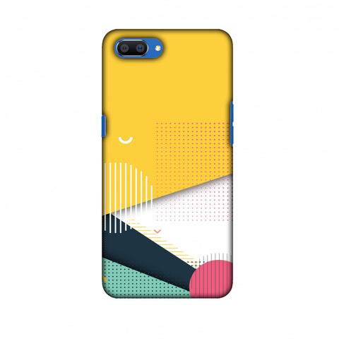 Dots And Stripes Slim Hard Shell Case For Oppo Realme C1