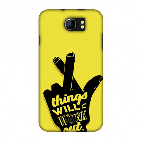 Things Will Work Out Slim Hard Shell Case For Micromax Canvas 2 A110