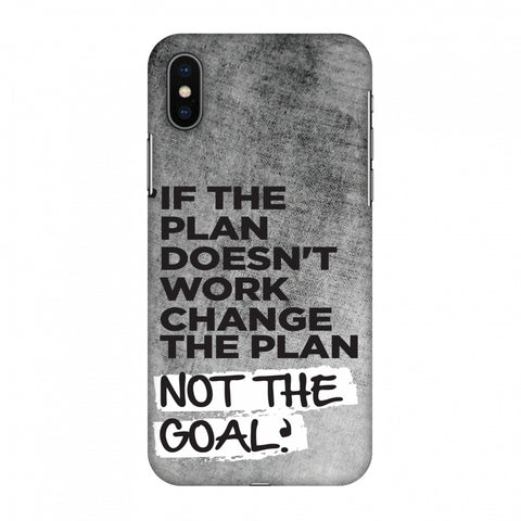 If The Plan Doesn'T Work.. Slim Hard Shell Case For Apple iPhone X